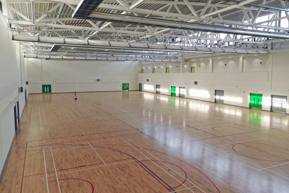 Kerry Sports Academy hall with viewing gallery
