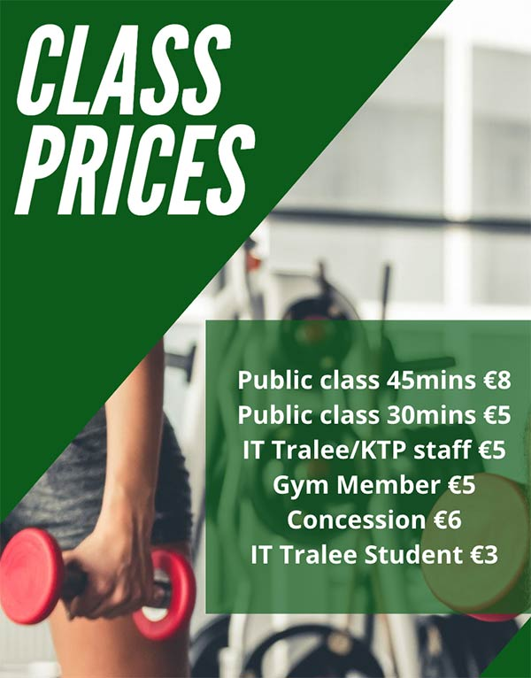 Kerry Sports Academy class prices
