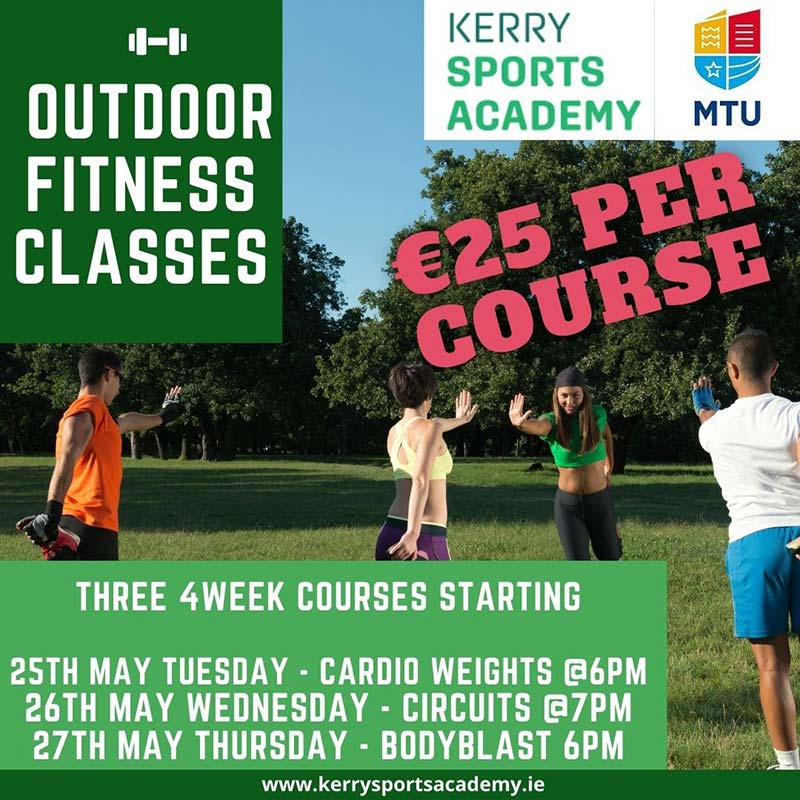 Kerry Sports Academy outdoor fitness classes